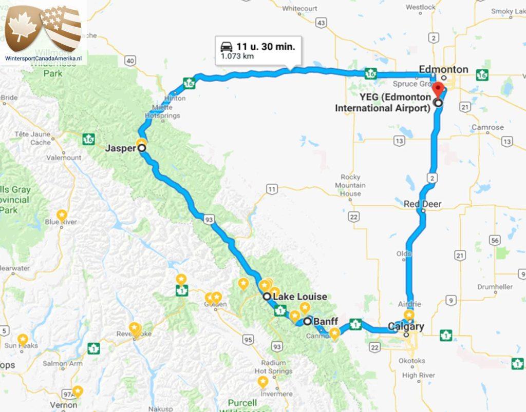 Maak deze prachtige skisafari in Canada en reis van Edmonton naar– Jasper – Lake Louise – Banff.