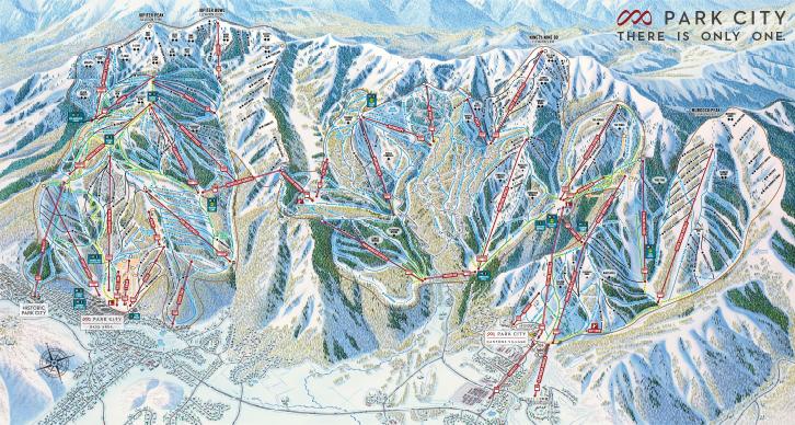 Park City Mountain is het grootste skigebied van Amerika en ligt in de staat Utah