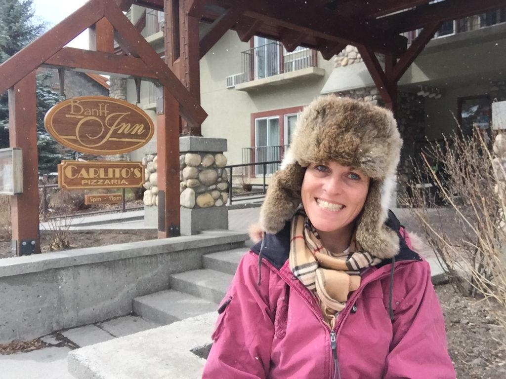 Else Schepers van WintersportCanada Amerika komt regelmatig in Banff om daar de accommodaties te bezoeken
