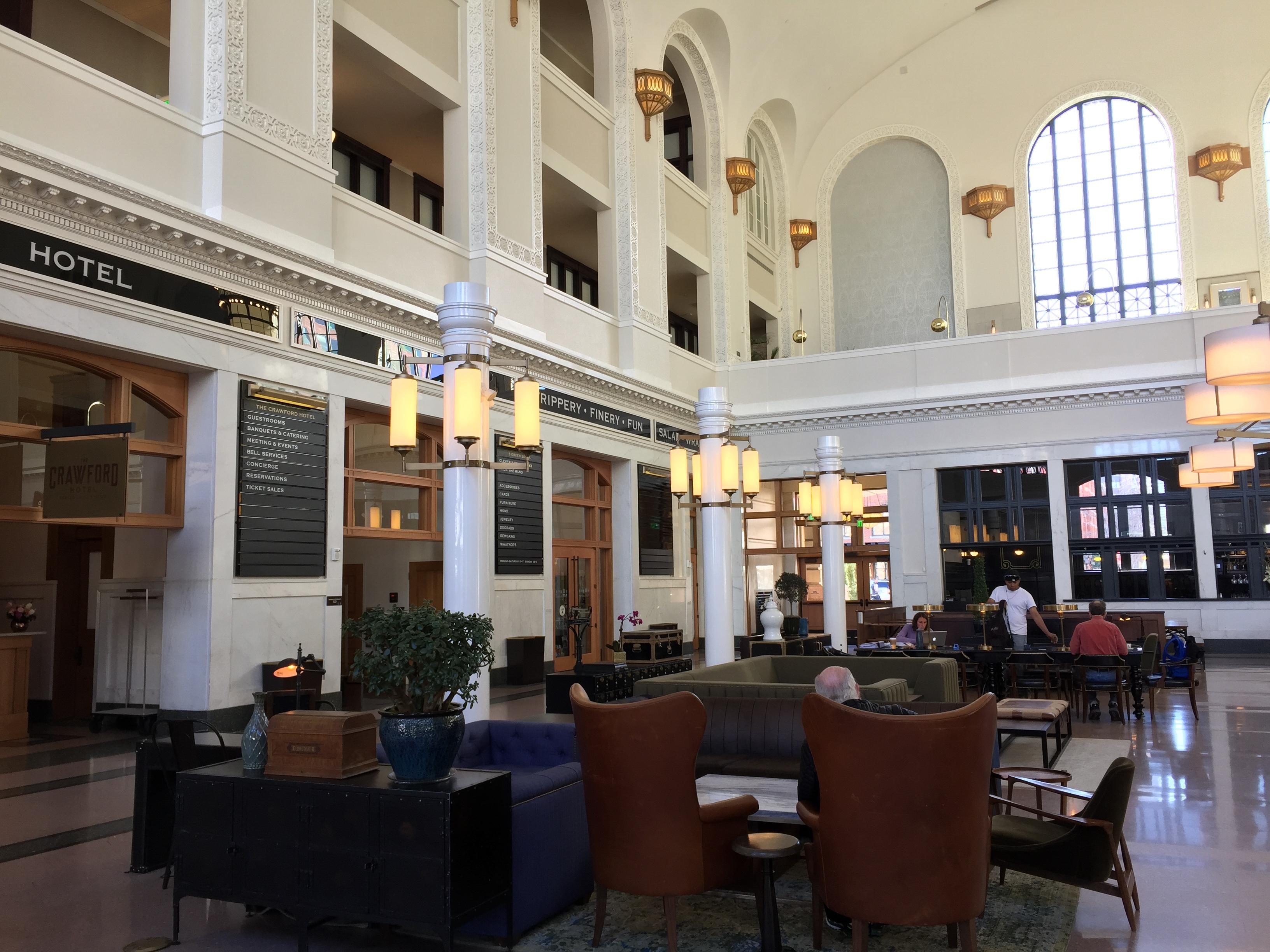 Het nieuwe The Crawford Hotel bevindt zich in The Union Station, het CS station van Denver Colorado.