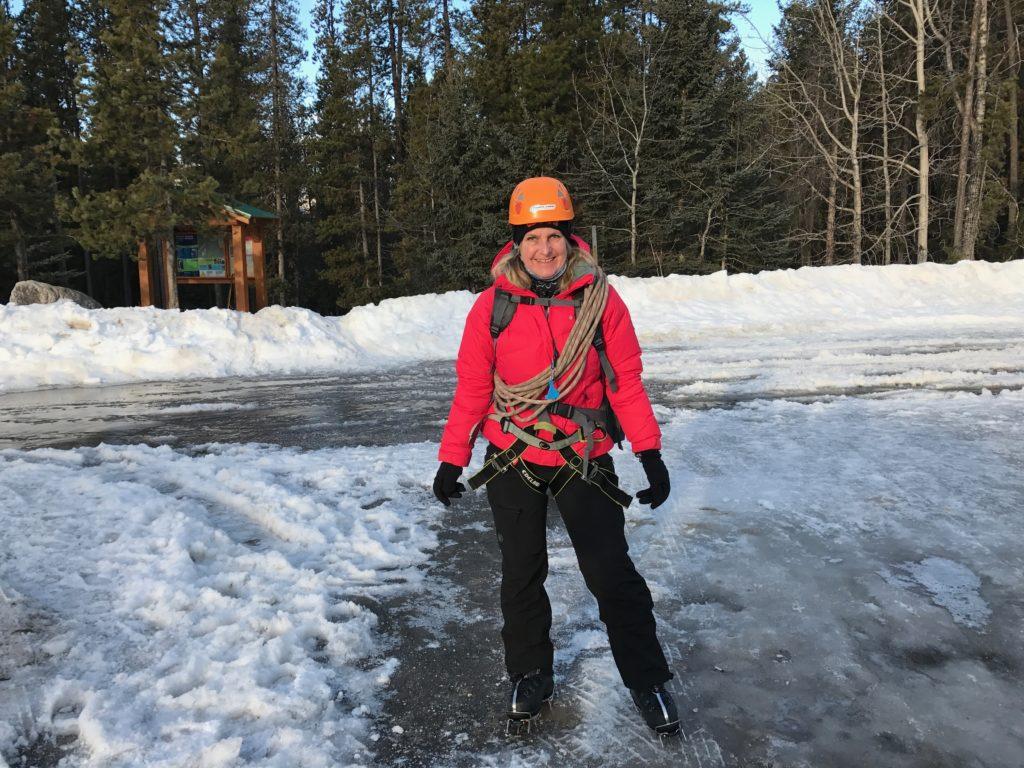 Als je in Jasper bent, kun je naast skien ook ijsklimmen, echt een supergave activiteit.