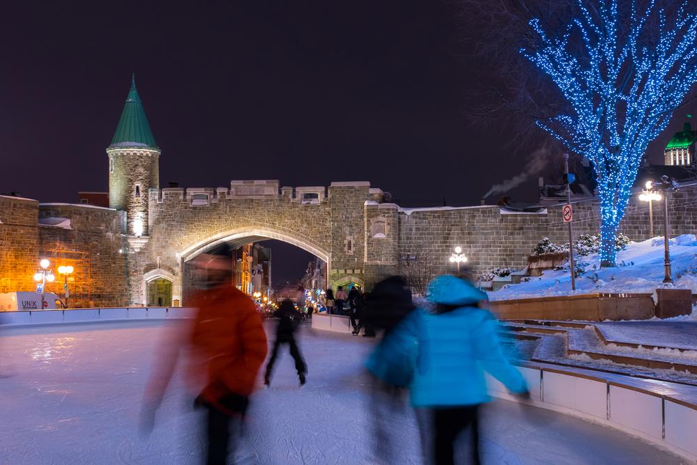 """Het oude centrum """"Le Vieux Quebec"""" bestaat uit een hoger en een lager deel. De binnenstad van Quebec staat op de erfgoedlijst van UNESCO."""