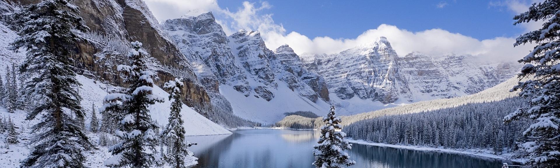 Meer dan 40 nationale natuurparken. In Canadese Rockies liggen ook 4 skigebieden: Mt. Norquay, Sunshine Village, Lake Louise & Marmot Basin.