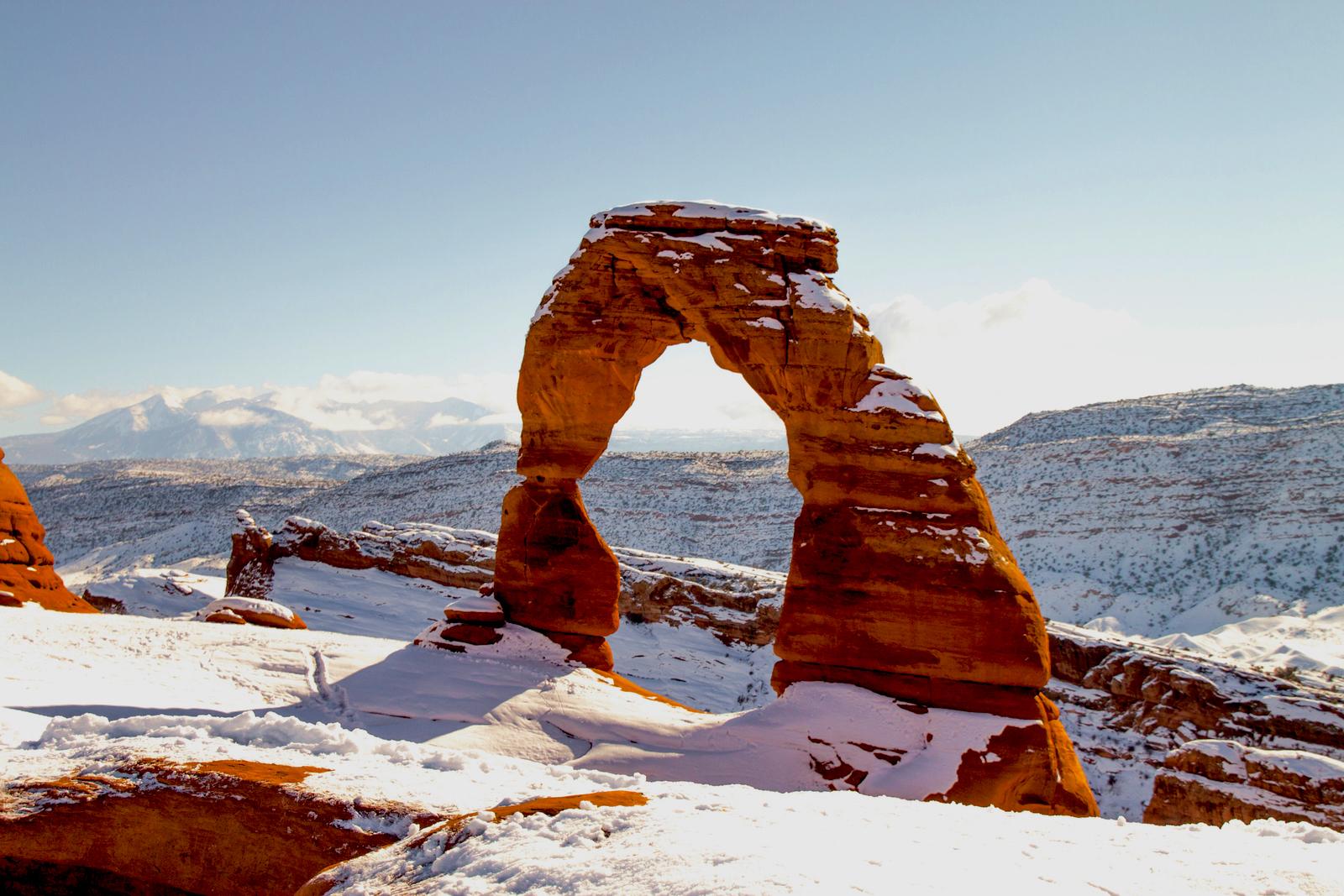 Arches National Park Utah in de winter