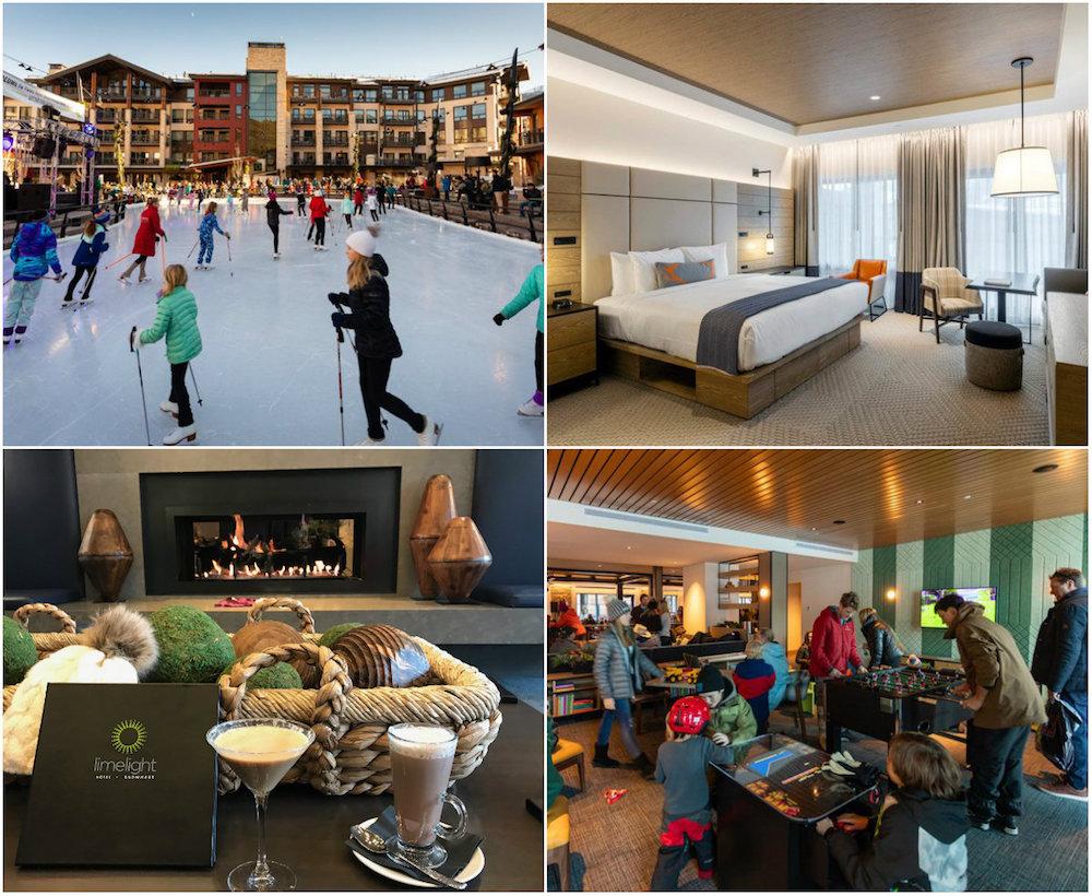 Limelight Snowmass: populair ski-in/ski-out hotel met oa een Kids Room, hoge klimmuur en voor de deur een ijsbaan èn zwembad