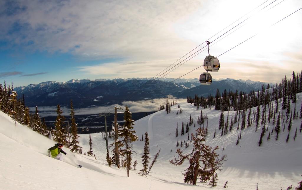 Het skidorp Kicking Horse is ideaal voor de ervaren skiers, meer dan de helft van het skigebied heeft zwarte afdalingen