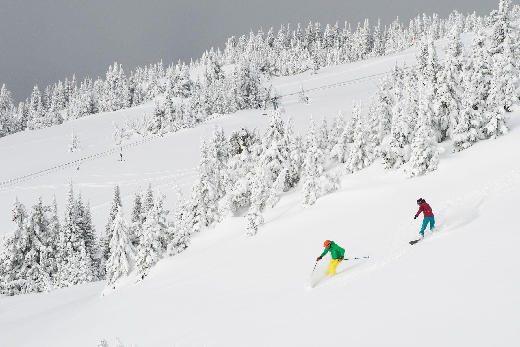 Sun Peaks is na Whistler het grootste skigebied van Canada