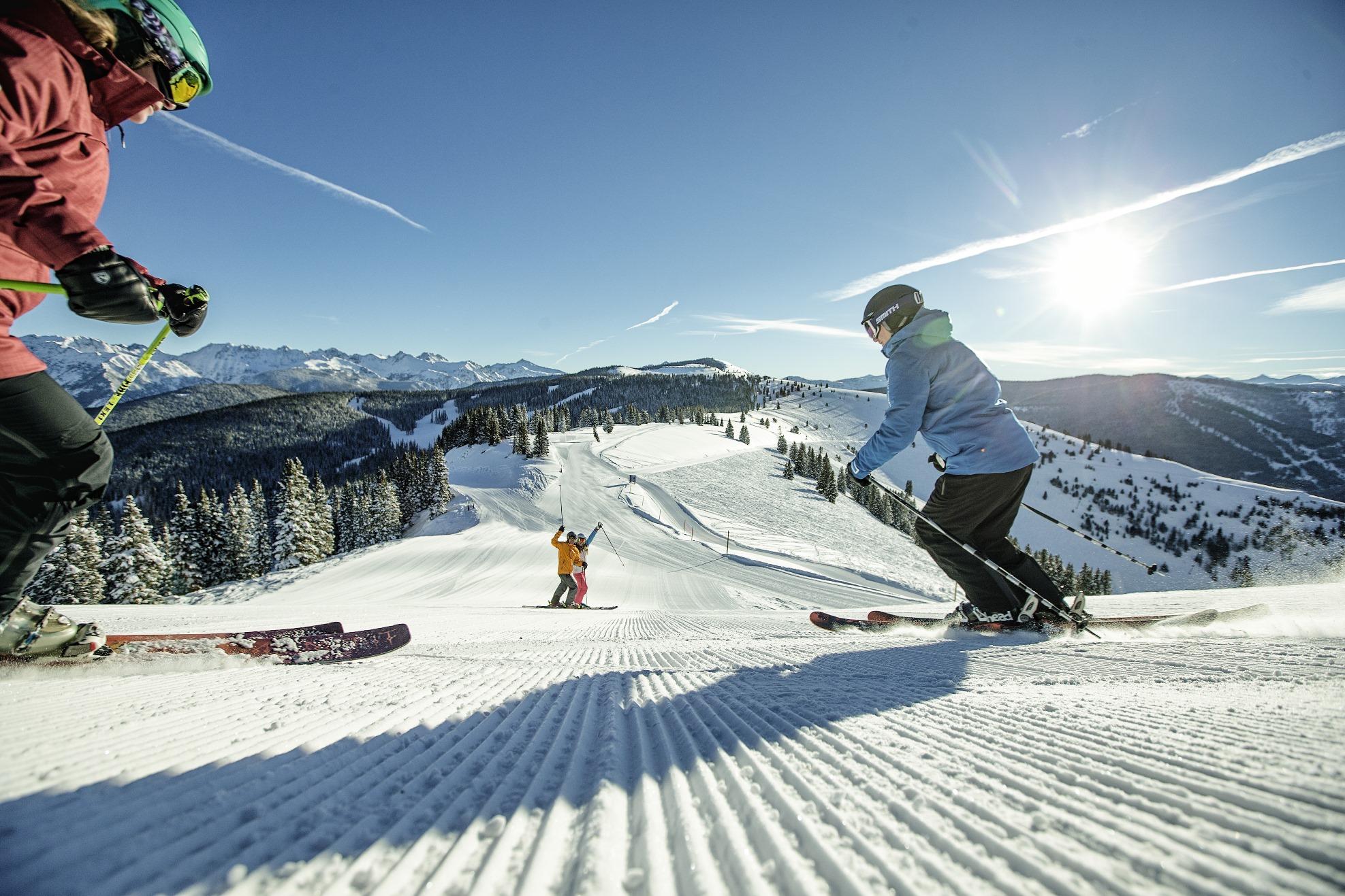 Geniet van de perfect geprepareerde pistes in het wereldberoemde skigebied van Vail