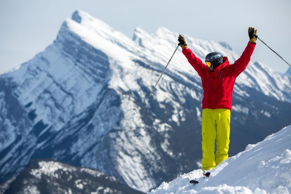 In Alberta Canada vind je het poedersneeuw skigebied De Skibig3 met Banff, Lake Louise, Mt. Norquay en Sunshinee